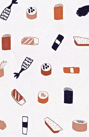Sashimi Gift Wrap // Wynwood Letterpress