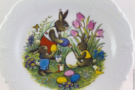 Винтажная посуда. Пасхальная тарелка, Германия. Фарфор & Керамика (Second Hand). Интернет-магазин Ярмарка Мастеров. Фарфоровая посуда