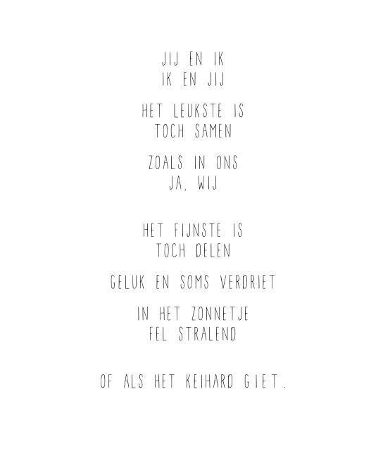 Jij en ik ❥