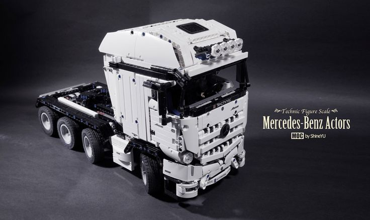 lego mercedes benz actros 8x4 by shineyu legos. Black Bedroom Furniture Sets. Home Design Ideas