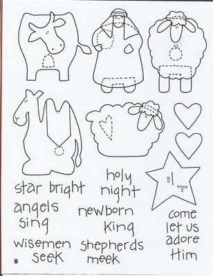 !!!!♥ Feltro-Aholic ♥ Moldes e pap em feltro e feltro estampado!: Molde de Presépio para o Natal