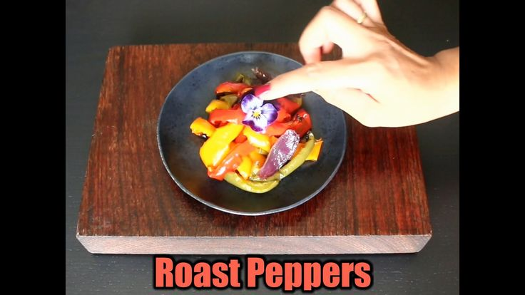 ROASTED BELL PEPPER & RED ONION I always food-prep a batch of roasted vegetables for the week ahead. Roast veggies are such a great addition to salads, to sandwiches, and as a side dish to any meal. This is a simple version with Bell-Peppers and Red Onion which goes well with pretty much anything !  Of course you can add other vegetables as well including zucchini, eggplant, carrot, sweet potato or pumpkin.