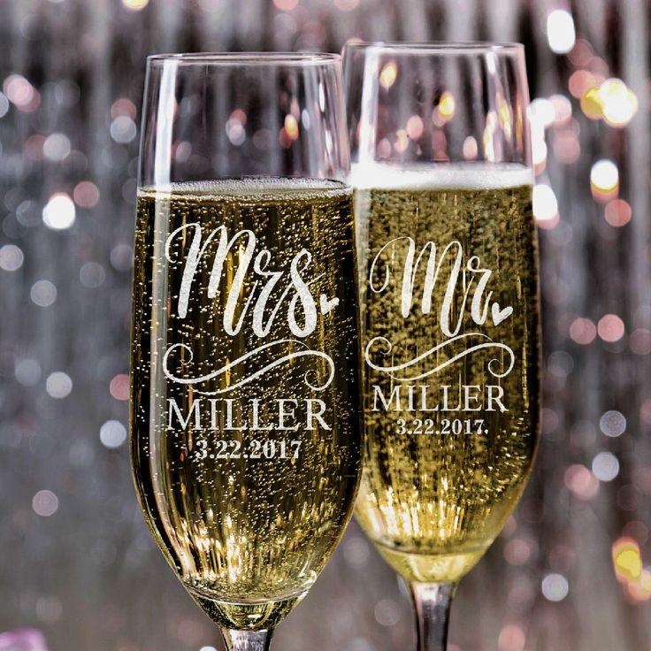 Set of 2, Mr. Mrs. Wedding Toasting Flutes, Wedding Champagne Glasses, Wedding Champagne Flutes, Custom Personalized Champagne Glass #N5 by PersonalizationLab on Etsy https://www.etsy.com/listing/526349957/set-of-2-mr-mrs-wedding-toasting-flutes
