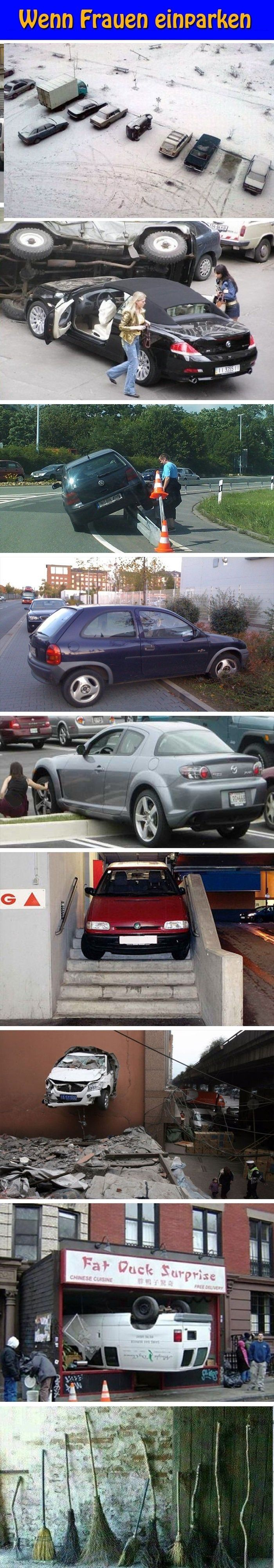 Wenn Frauen einparken! LocoPengu - Why so serious? witze meme lustiges zitate humor funny bilder