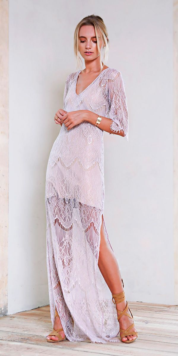 Trendy Suggestions 15 Beach Wedding Guest Dresses Lace Floor Length With Sleeves