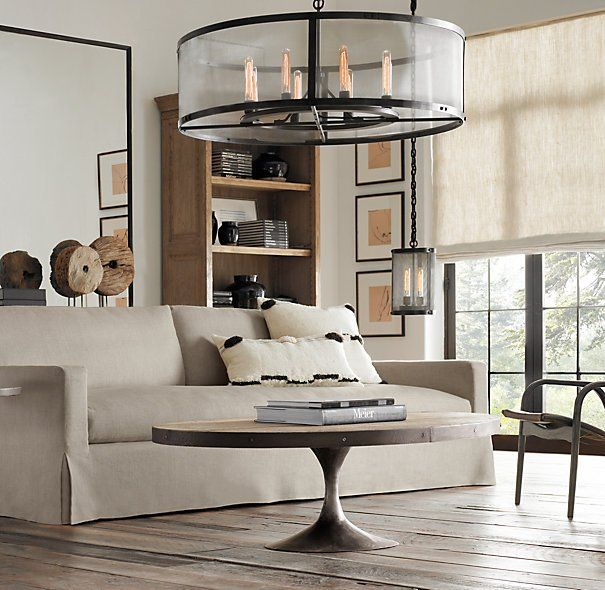 Aero oval coffee tables restoration hardware mi nido pinterest Restoration coffee tables