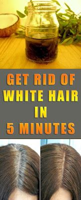 Get rid of white hair in 5 minutes