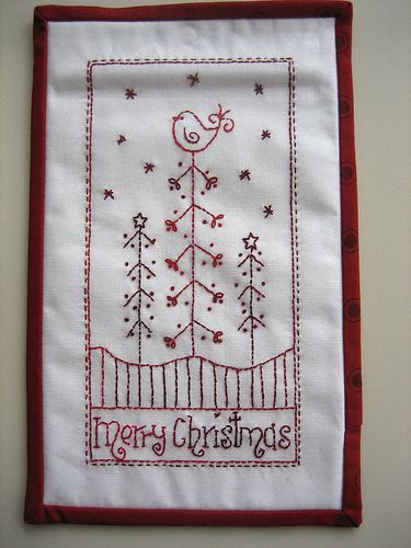 hand embroidery~mamacjt   can be used on quilted projects
