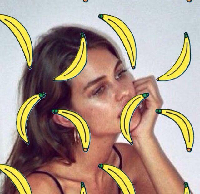 Girl and banana