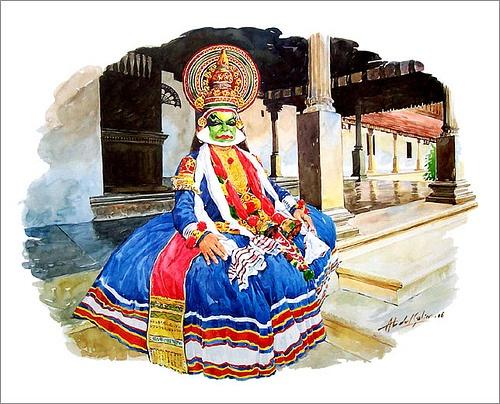 Kathakali - by Abdul salim - Artist / Illustrator