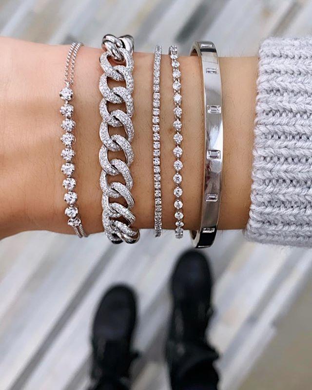 Diamond Top Curb Chain Bracelet Diamond Tops Diamond Bracelets Diamond Bracelet