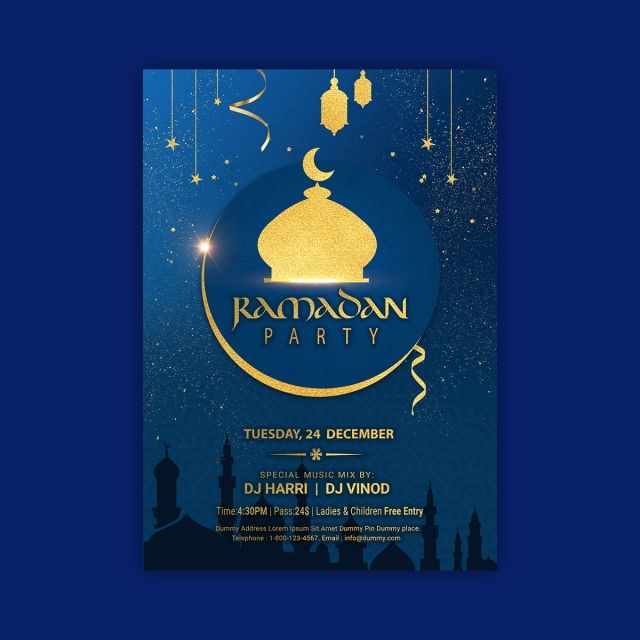 Ramadan Iftar Party Invitation Poster Template Iftar Party Party Poster Party Invitations