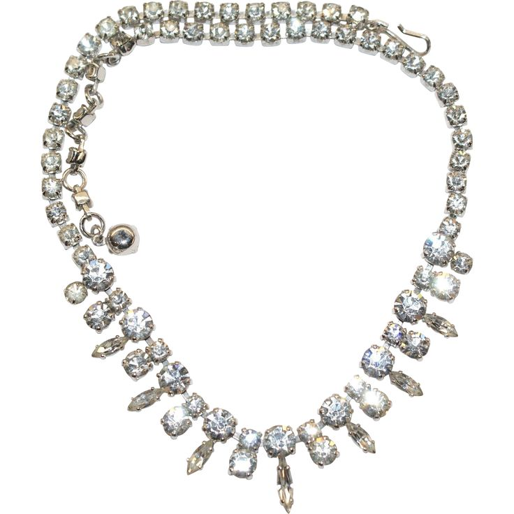 Classic Sherman Swarovski Necklace Exclusively at Lee Caplan Vintage Collection  on RubyLane
