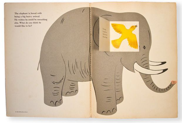 Vintage Children's Books by Iconic Graphic Designers: THE ELEPHANT'S WISH by BRUNO MUNARI.