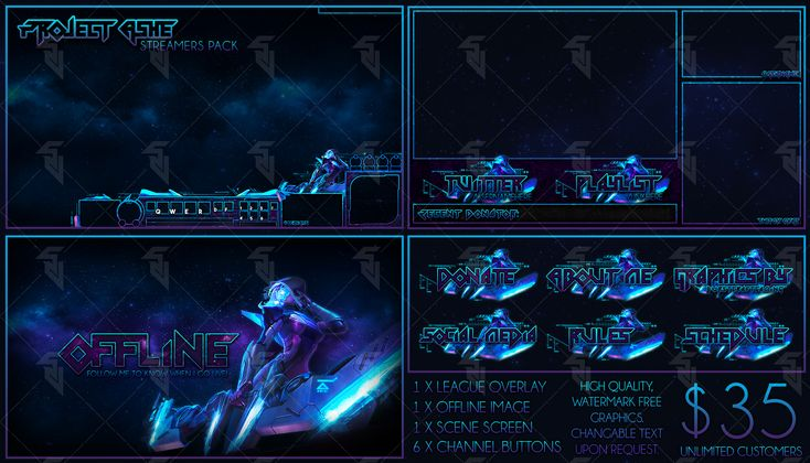 Project Ashe - Pre-Made Cheap Streaming Pack by StudioVulcan