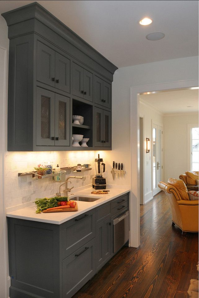 Kitchen Cabinet Ideas. Side Kitchen Cabinet. This Space Is Perfect For A  Coffee Station