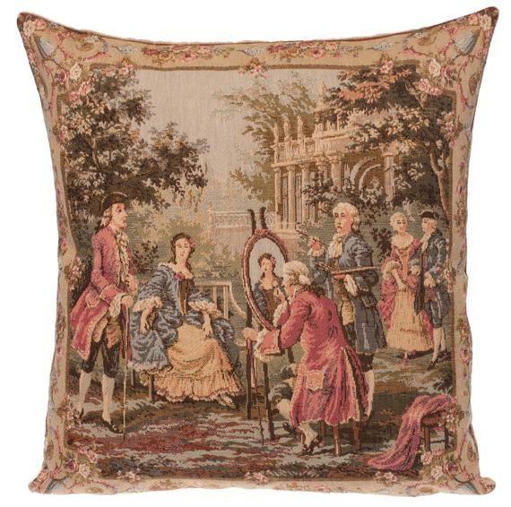 Belgian gobelin tapestry cushion pillow