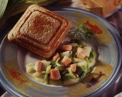 Croque-monsieur Skol - Saumon frais, poireau, citron, creme fraiche