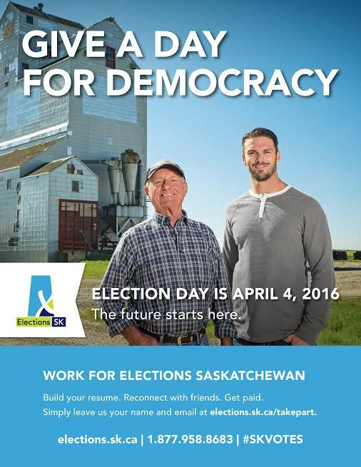 The April 4 provincial election will be Saskatchewan's largest electoral event. The election not only affords an opportunity for workers to give back to their community, but a chance to raise funds for their registered charity.#SKVOTES #Saskatchewan