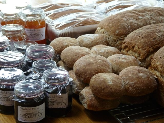 Home made bread, cakes and jams