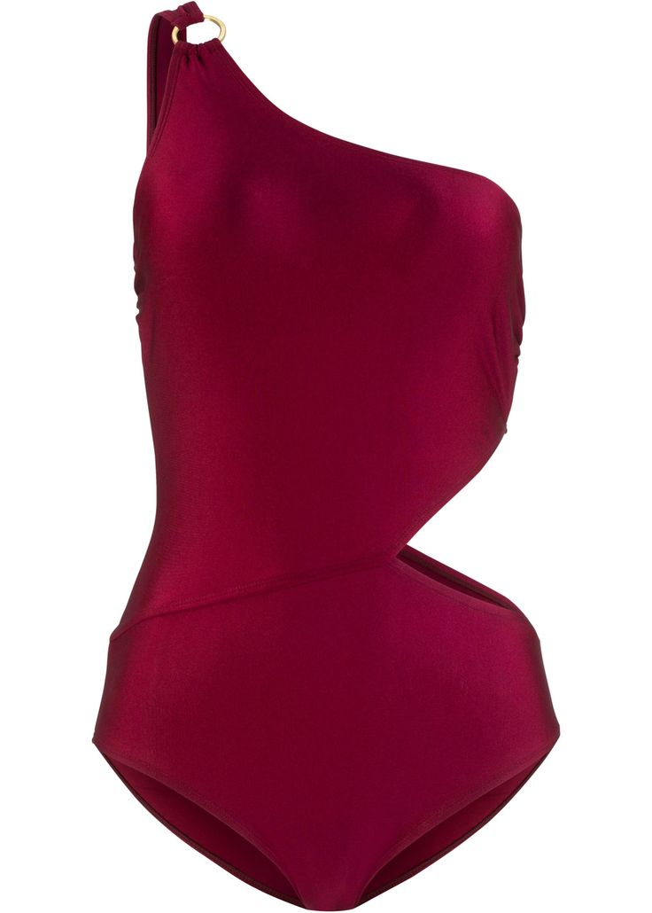 Modischer One Shoulder Badeanzug aus glänzendem Material