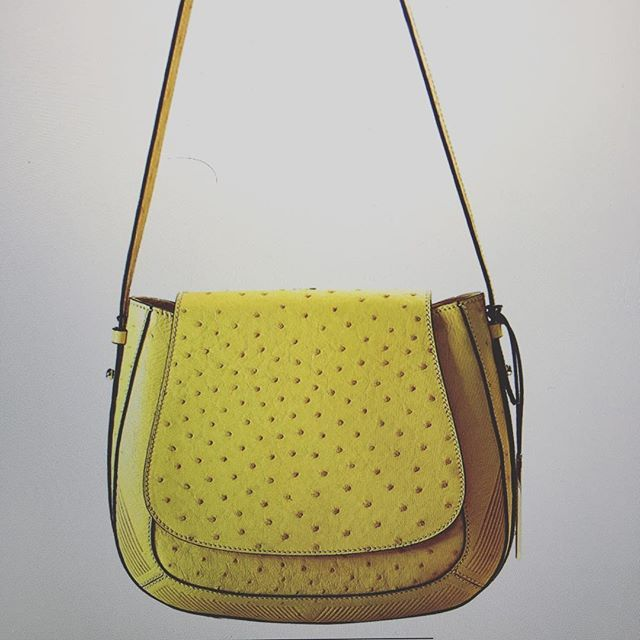 The genuine #ostrich 👜 - Kirsty in #yellow - part of the Via Veneta Provoque collection