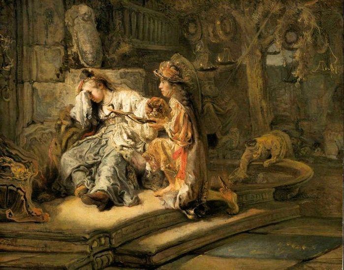 Carel Fabritius Меркурий и Аглавра. 1647. Бостон. Музей изящных искусств.