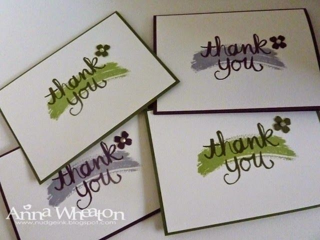 Nudge Nudge Ink Ink: Stampin' Up! Watercolor Thank You