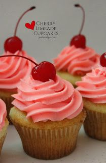 Cherry Limeade Cupcakes by joandsue.blogspot.com