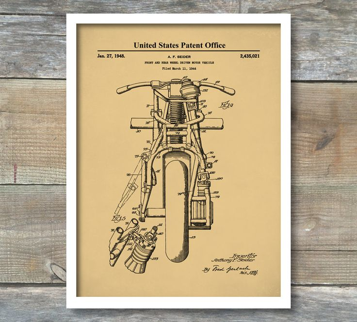 167 best posters images on pinterest indian motorcycle poster front and rear wheel driven motorcycle patent art motorbike blueprint art malvernweather Choice Image