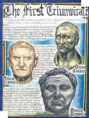 51. First Triumvirate- the political alliance of Gaius Julius Caesar, Marcus Licinius Crassus, and Gnaeus Pompeius Magnus.