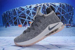 39b261b634b4a5 Nike LeBron 15 Low Wolf Grey White Pink AO1756 003 Men s Basketball Shoes  James Shoes