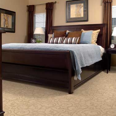 """Love this """"Lace"""" pop-up carpet. #lace #popup #design #decor #interiordesign #bedroom   More colours here: http://floorsfirst.ca/carpet/interior-motives/lace/floor/lace#crystal-stream-9"""