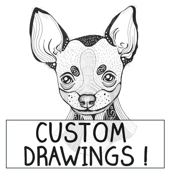 Custom Personalised Dog Illustration  I will draw ANY by mmuffn