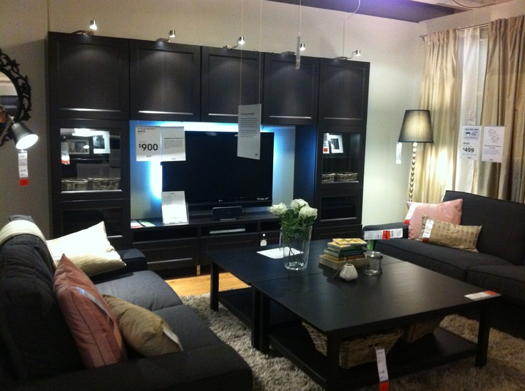 ikea tv wall unit - good for storage | living room | pinterest