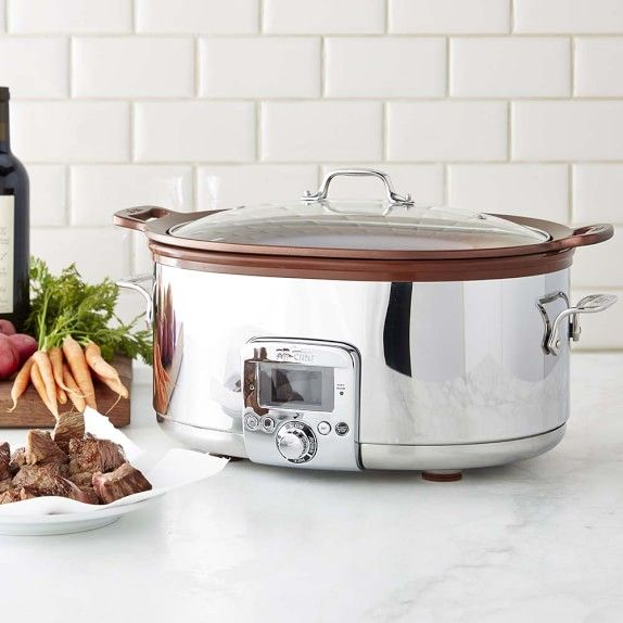 All-Clad Gourmet Slow Cooker with All-In One Browning, 7-Qt.