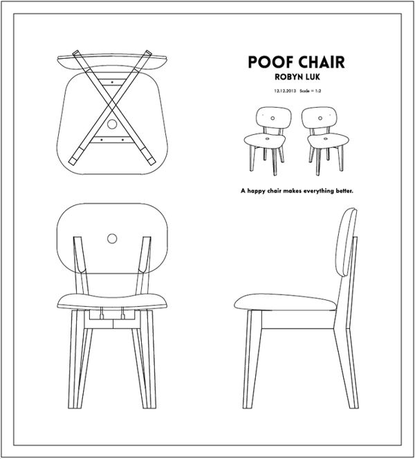 Poof Chair by Robyn Luk, via Behance