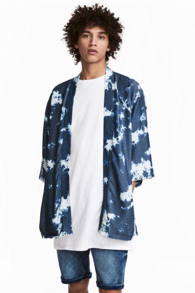 Quimono batique em lyocell - Azul - HOMEM | H&M PT 1