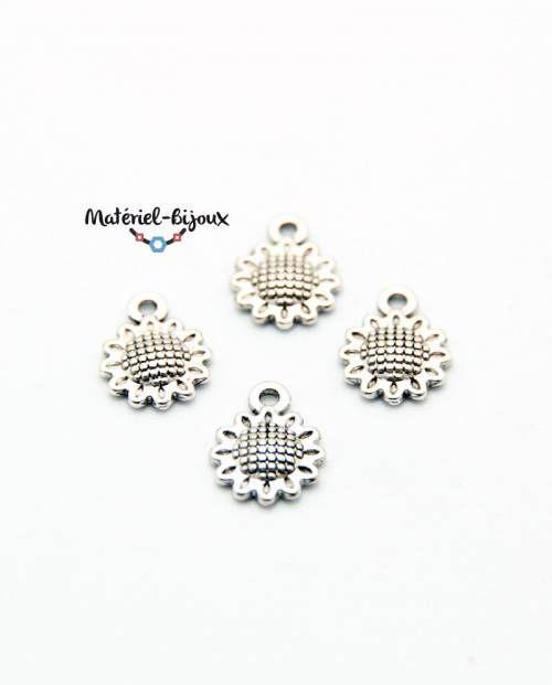 petites breloques tournesol pour bijoux fantaisie estivaux et nature !