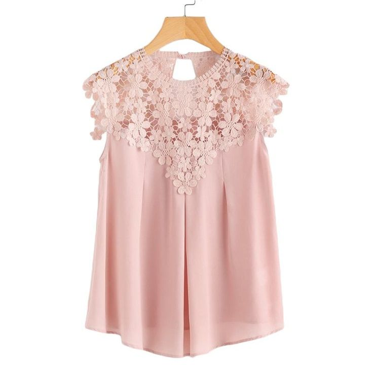 Pink, White or Wine Lace Casual Top