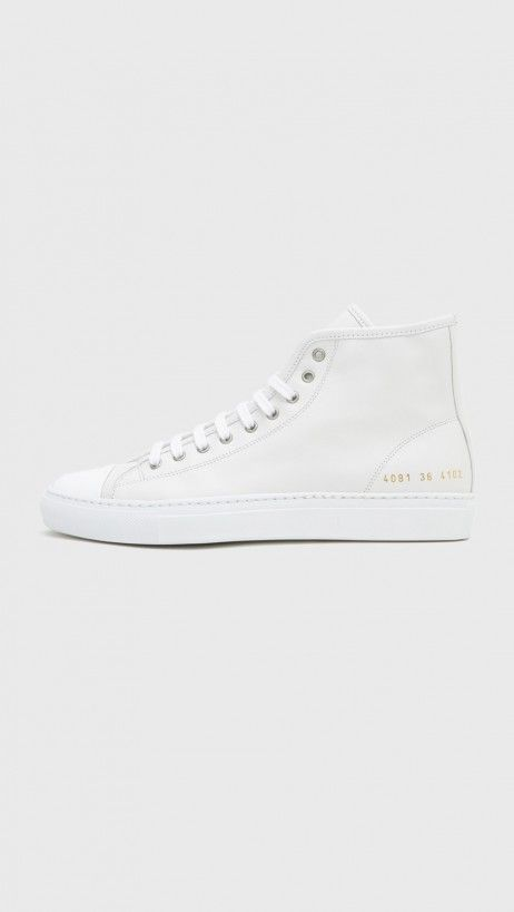 Woman by Common Projects // Leather Tournament Cap Toe High