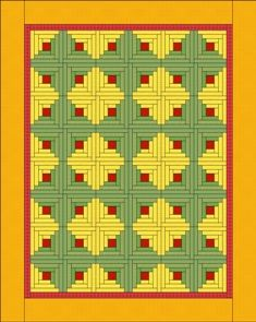 Inspiration - Log Cabin layouts - Quilting Tutorial from ConnectingThreads.com. Sunshine and Shadows setting.