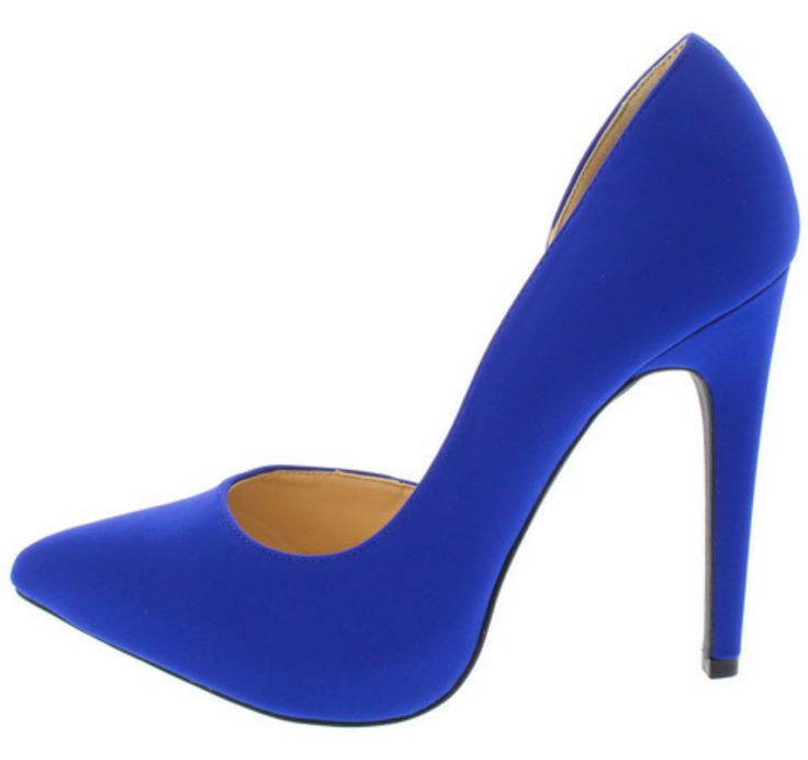 Royal Blue Pointed Toe Heel