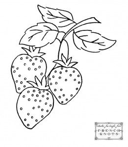 strawberry embroidery pattern