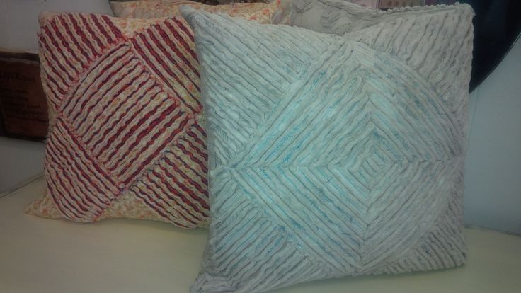 we Love Chenille ~ these accent cushion covers are Hand Sewn & Made right here in Perth, Ontario <3  Available at Mariposa Design 73 Foster Street, Perth, ON K7H 1R9