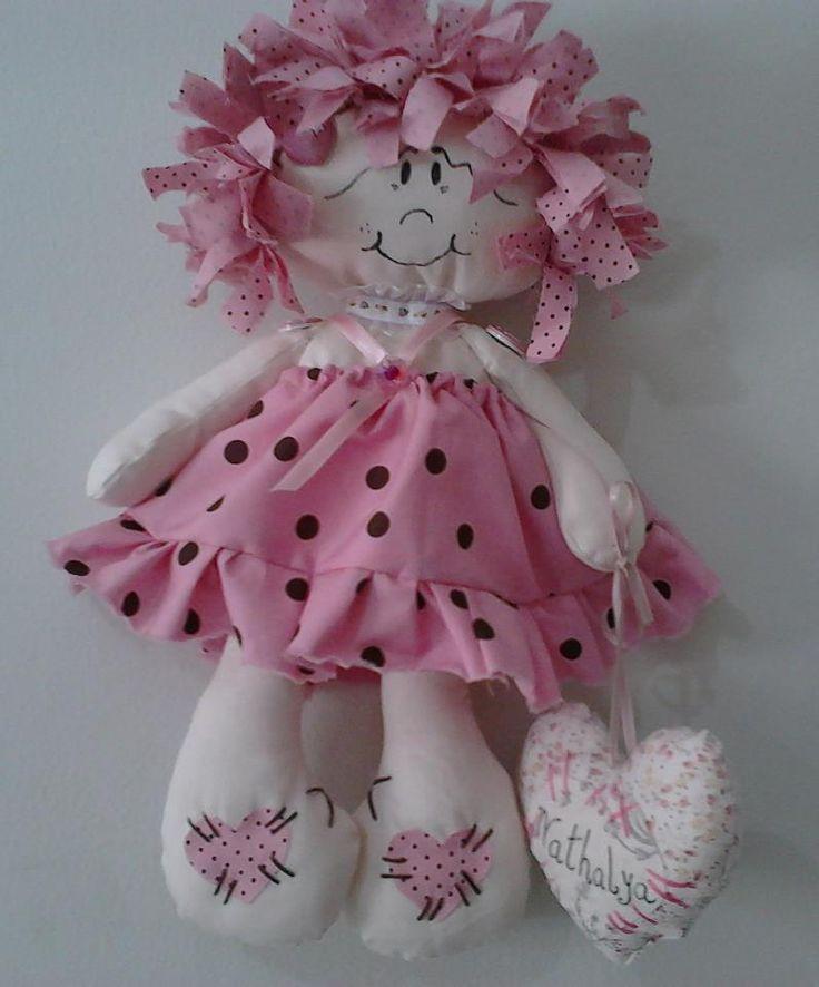Athelier Sonho Lilás: Bonecas de pano. Feitas sob encomenda para maternidade juntamente com as lembrancinhas em forma de coração.