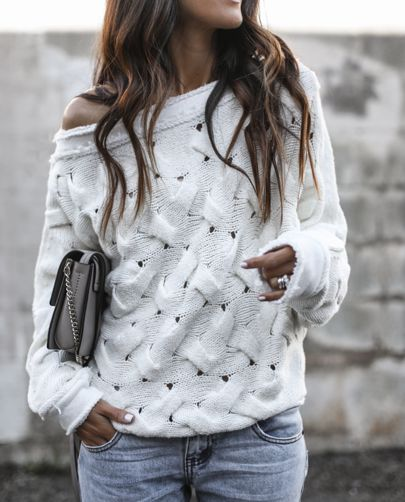 Best 25  White sweater outfit ideas on Pinterest | White sweaters ...