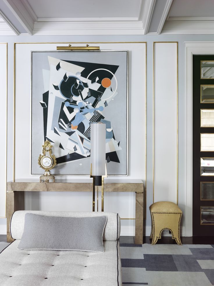 Adding modern art to a traditional space