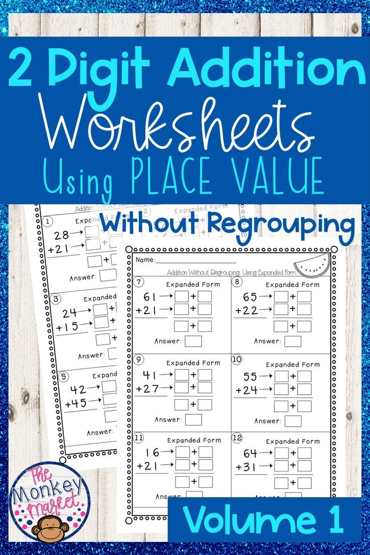 2 Digit Addition Without Regrouping Teaching Math Math Strategies Elementary Math How to teach two digit addition without