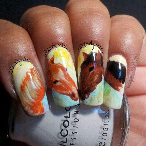 horse #nail #nails #nailart - 9 Best Images About Stuff To Try On Pinterest Nail Art, 50 And